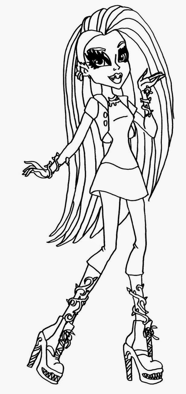 monster high coloring picture coloring pages monster high coloring pages free and printable high picture coloring monster