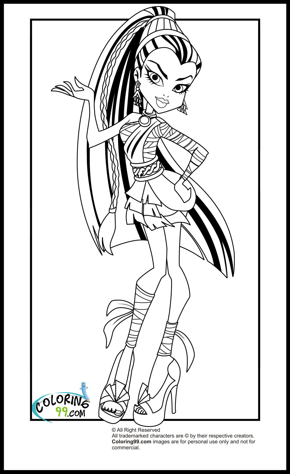 monster high coloring picture coloring pages monster high coloring pages free and printable picture coloring high monster