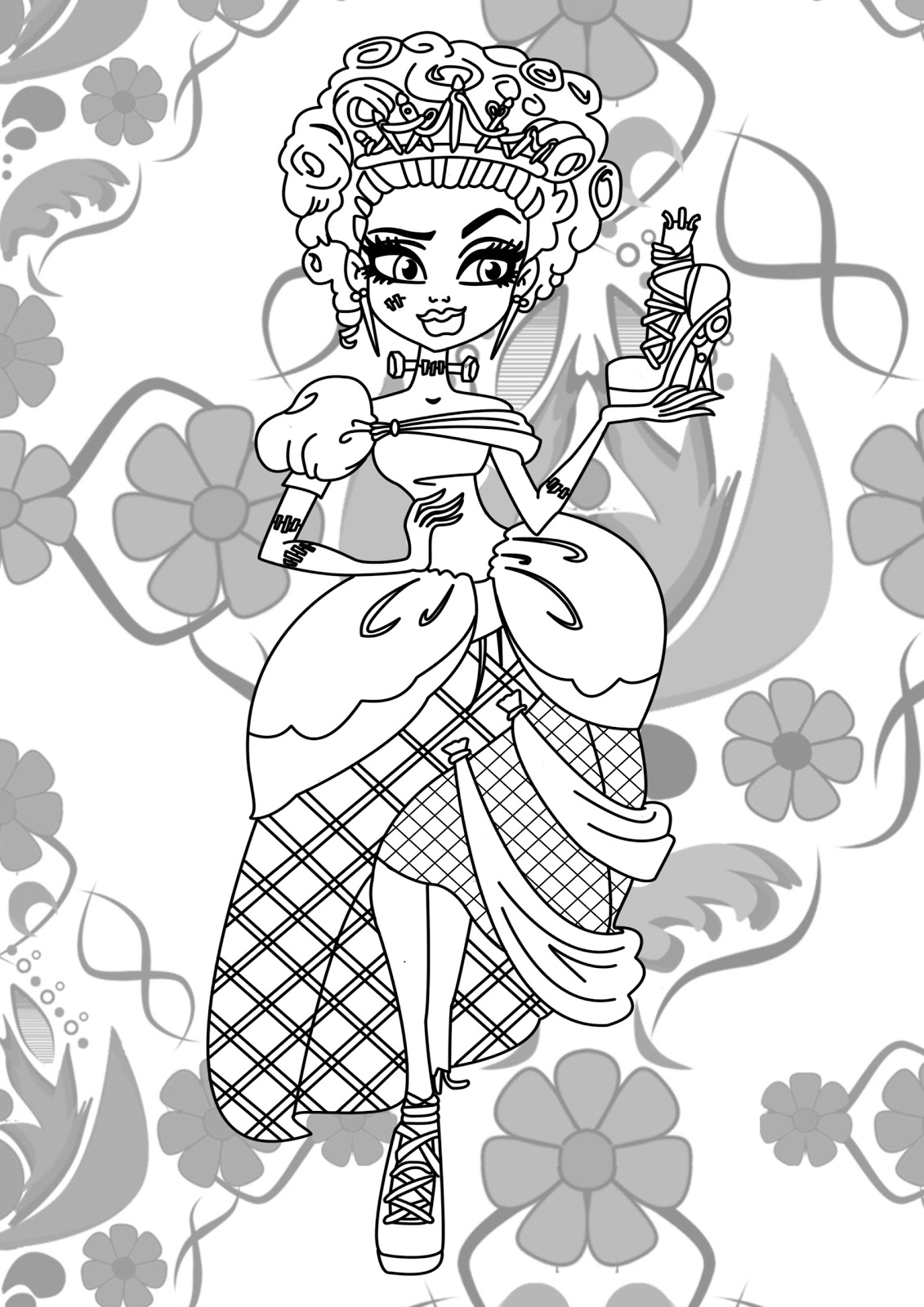 monster high coloring picture monster high clawdeen wolf coloring pages team colors high picture coloring monster