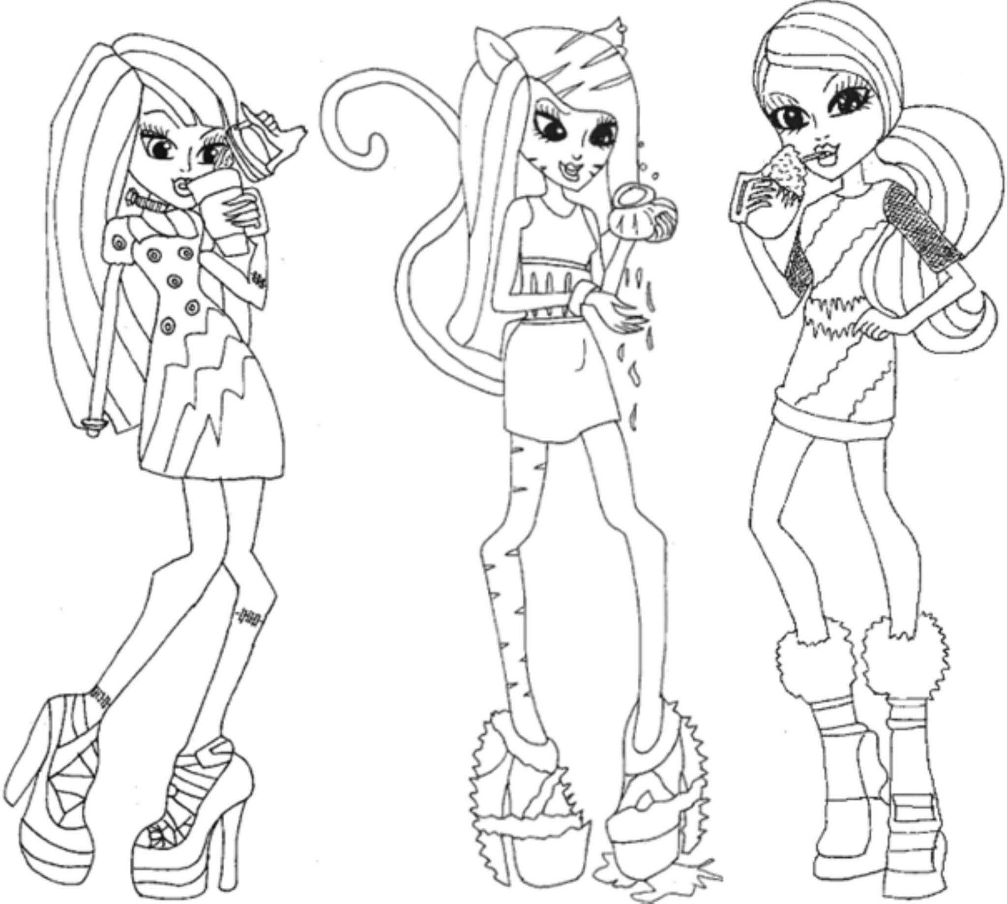 monster high coloring picture monster high coloring pages avea trotter google search coloring high picture monster
