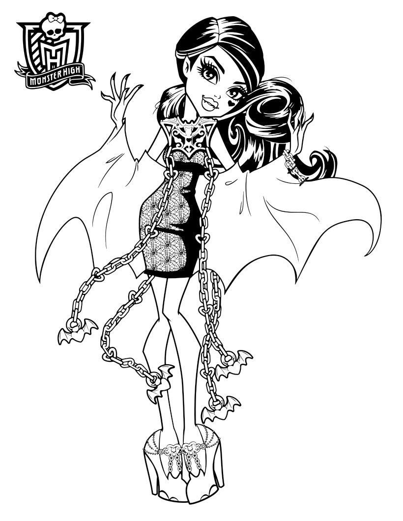 monster high coloring picture monster high coloring picture coloring monster picture high