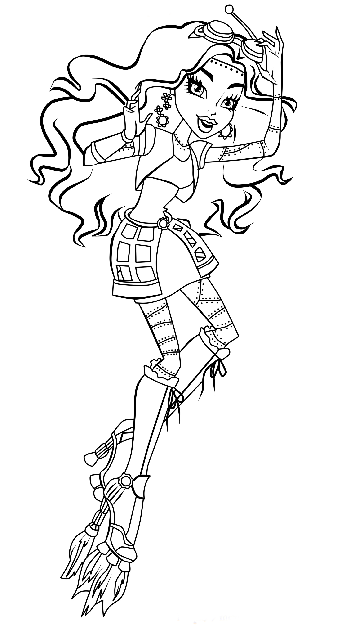 monster high coloring picture monster high haunted coloring pages to download and print coloring high monster picture
