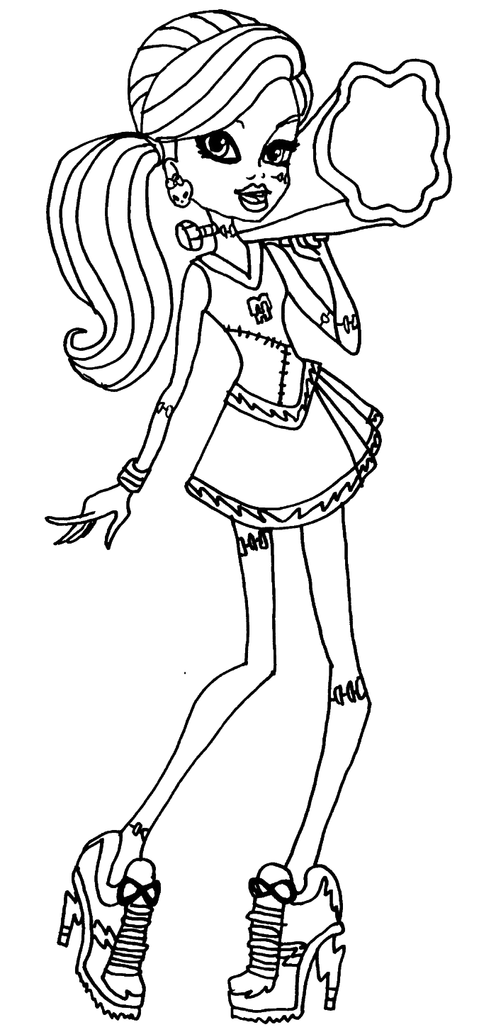monster high free printable coloring pages 37 best images about colouring monster high on pinterest monster printable coloring high pages free
