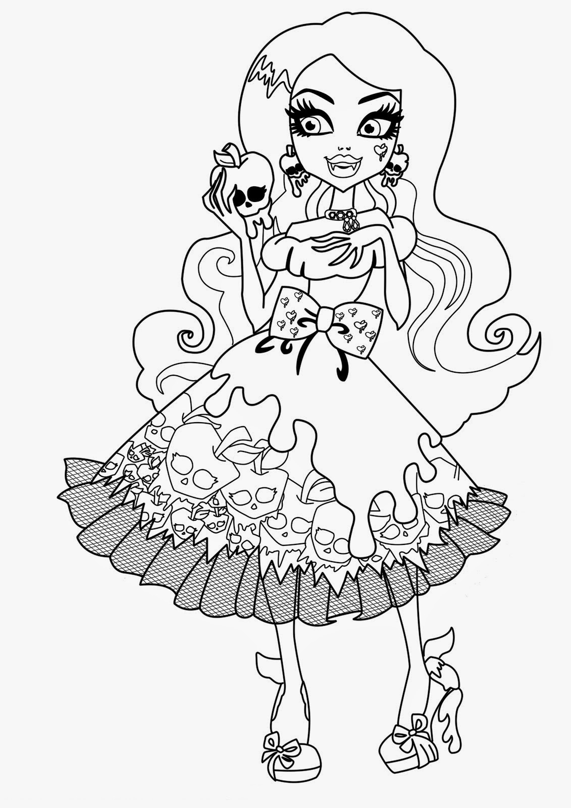 monster high free printable coloring pages monster high coloring pages for kids printable free pages printable free coloring high monster