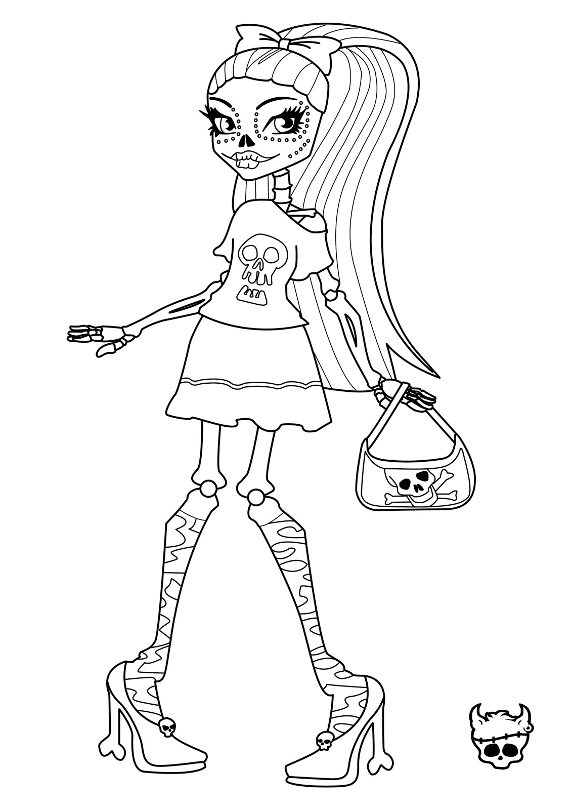 monster high free printable coloring pages monster high coloring pages to print at getdrawings free coloring high printable free monster pages