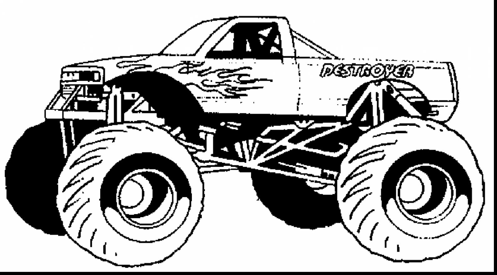 monster truck coloring page drawing monster truck coloring pages with kids monster coloring truck page