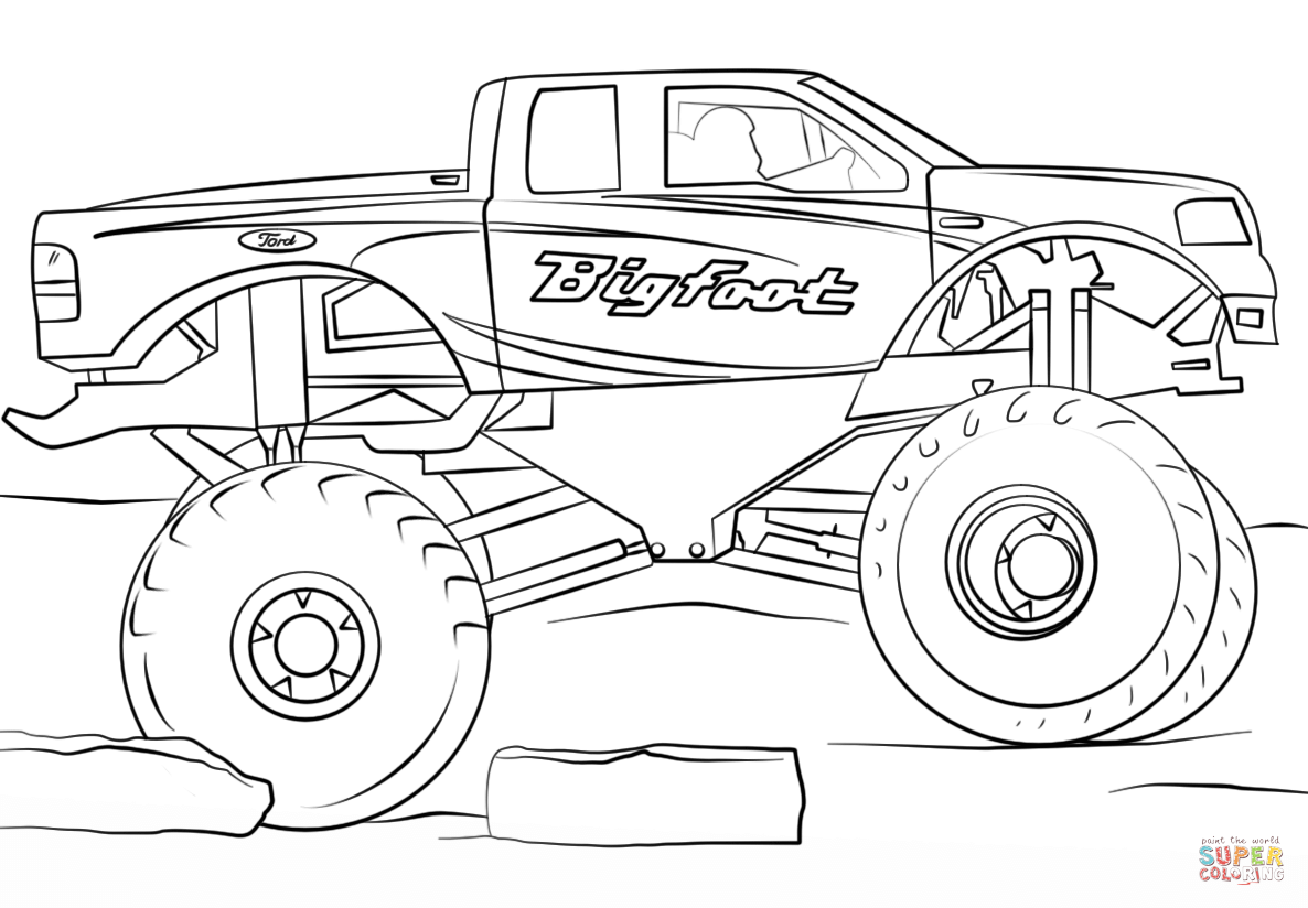 monster truck coloring page unique monster truck coloring pages library free truck coloring monster page