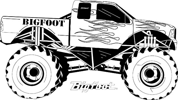 monster truck coloring pages for kids backhoe coloring pages coloring home for pages coloring kids monster truck