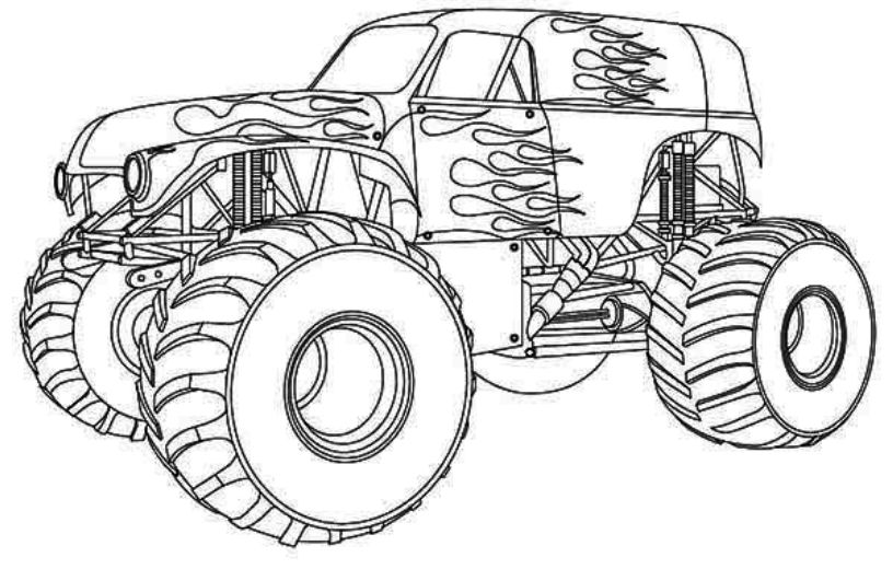 monster truck coloring pages for kids how to draw monster truck bigfoot kids the place for monster kids truck pages for coloring