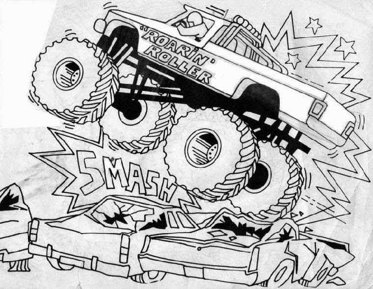 monster truck coloring pages for kids monster jam crushing cars with images monster truck for truck monster coloring kids pages