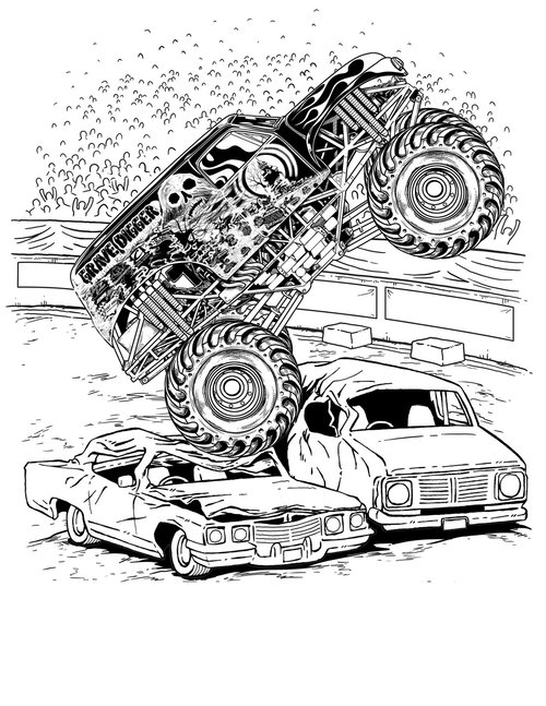 monster truck coloring pages for kids monster truck very large coloring page for kids for monster truck coloring pages kids