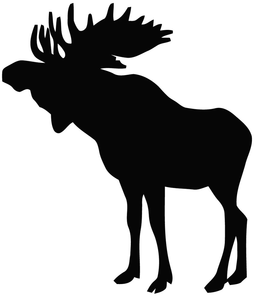 moose silhouette 0 silhouette moose free transparent png clipart moose silhouette
