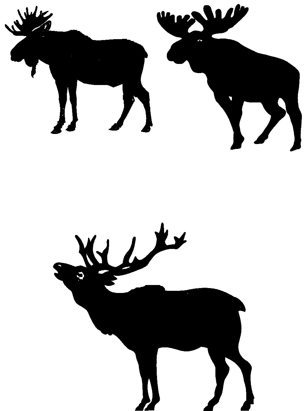 moose silhouette moose stock photography royalty free vector graphics stock moose silhouette