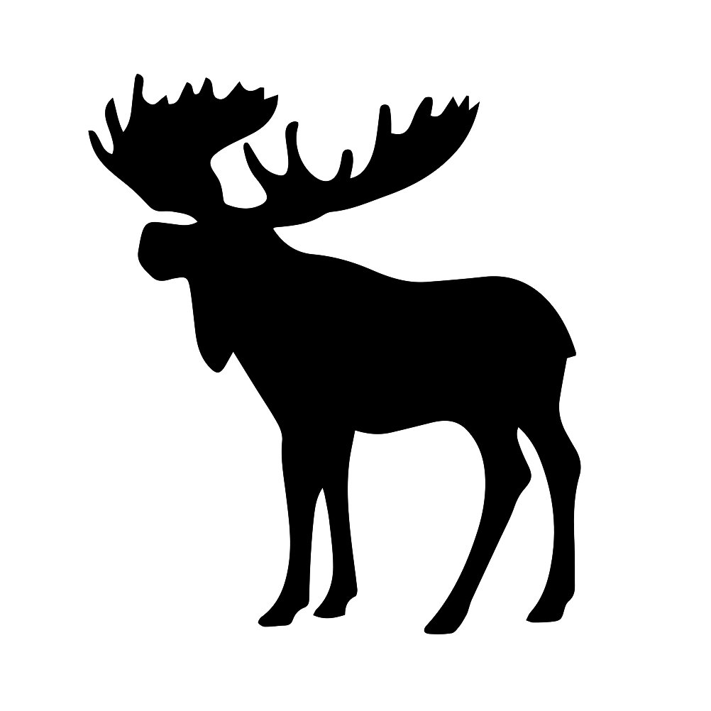 moose silhouette this is a cool moose hunting silhouette vinyl cut decal or silhouette moose