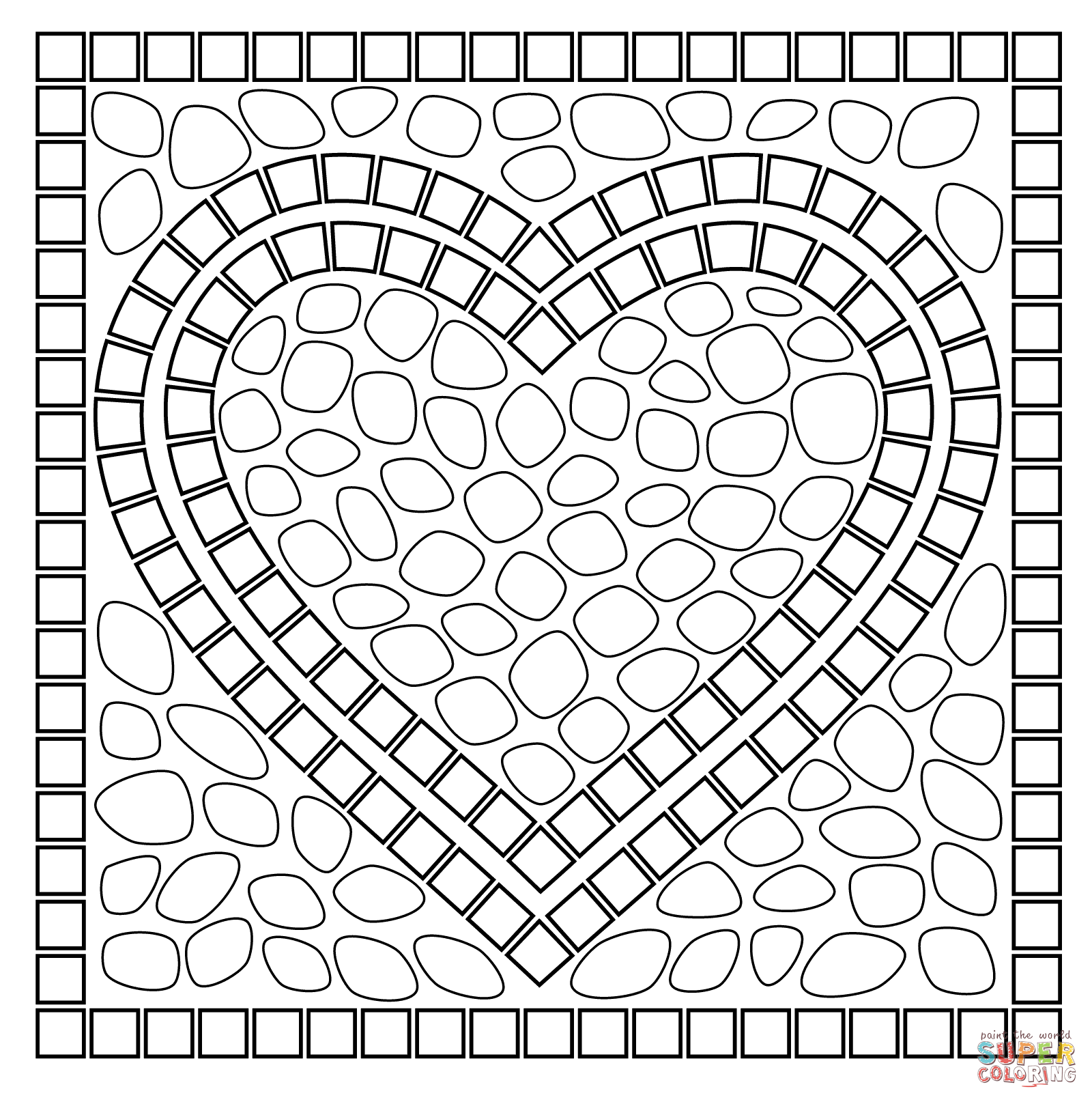 mosaic pictures to colour mosaic coloring pages for kids at getdrawings free download colour pictures mosaic to