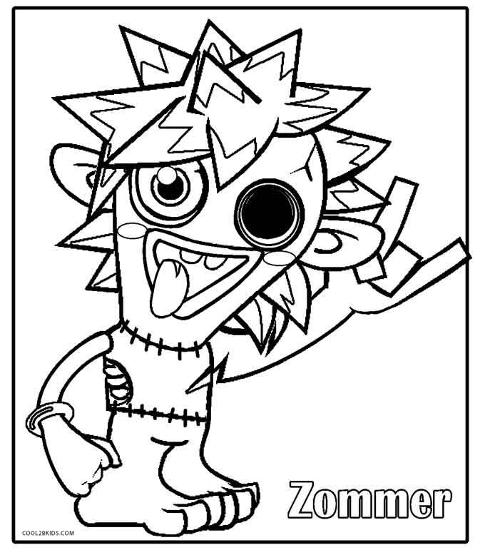 moshi monster coloring pages moshi monsters diavlo coloring page free printable coloring moshi monster pages