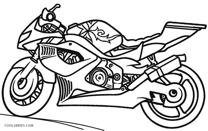 motorbike pitchers free printable motorcycle coloring pages for kids cool2bkids pitchers motorbike