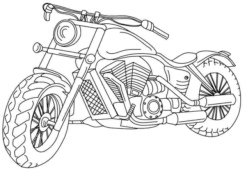 motorbike pitchers sporty motorcycle coloring pages picolour pitchers motorbike