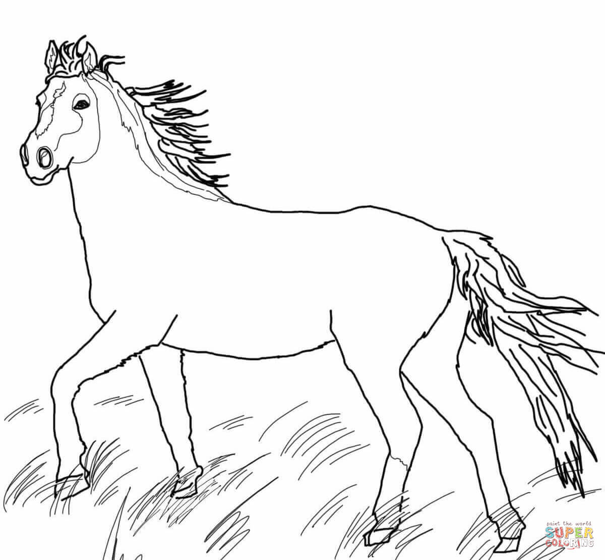 mustang horse coloring pages how to draw a mustang horse clipartsco coloring mustang horse pages