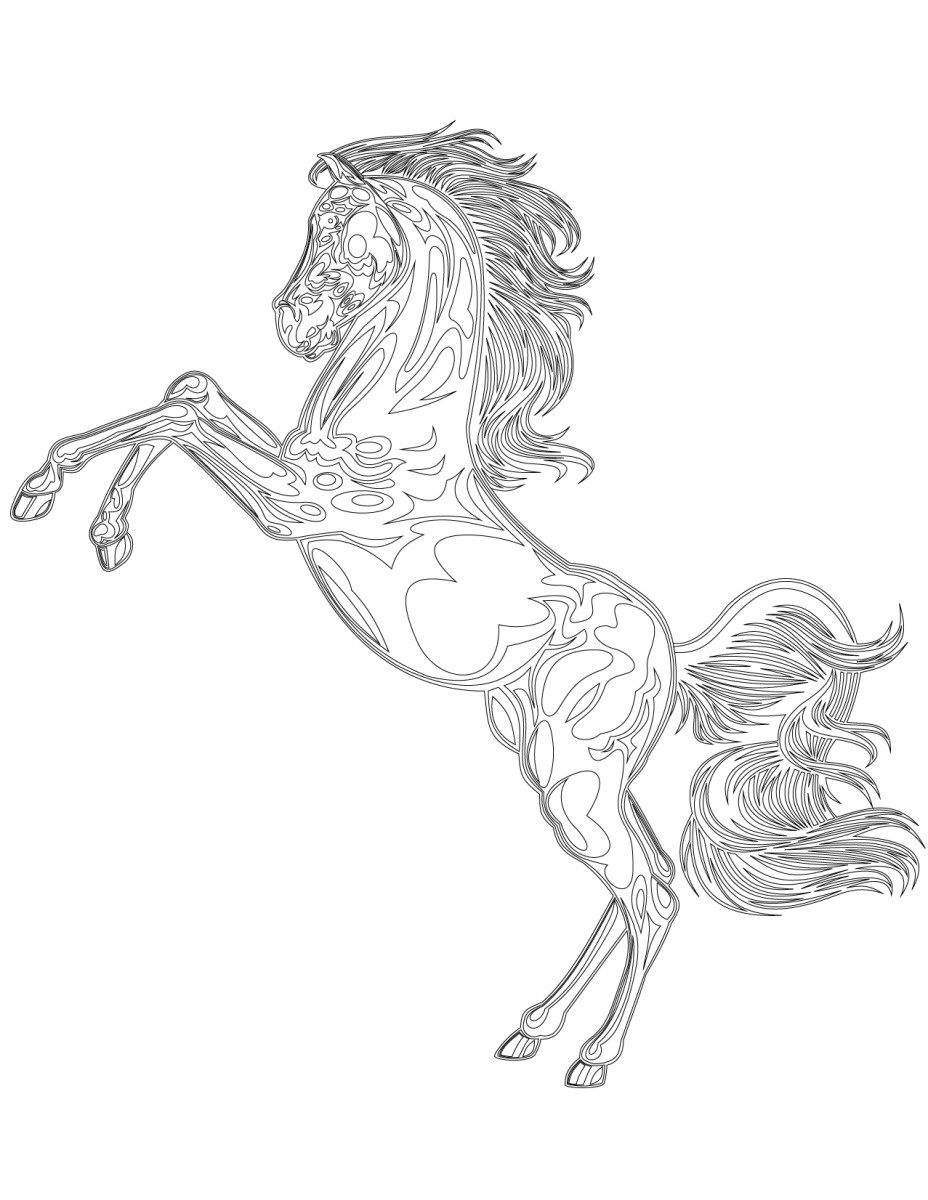 mustang horse coloring pages mustang horse coloring pages horse pages mustang coloring