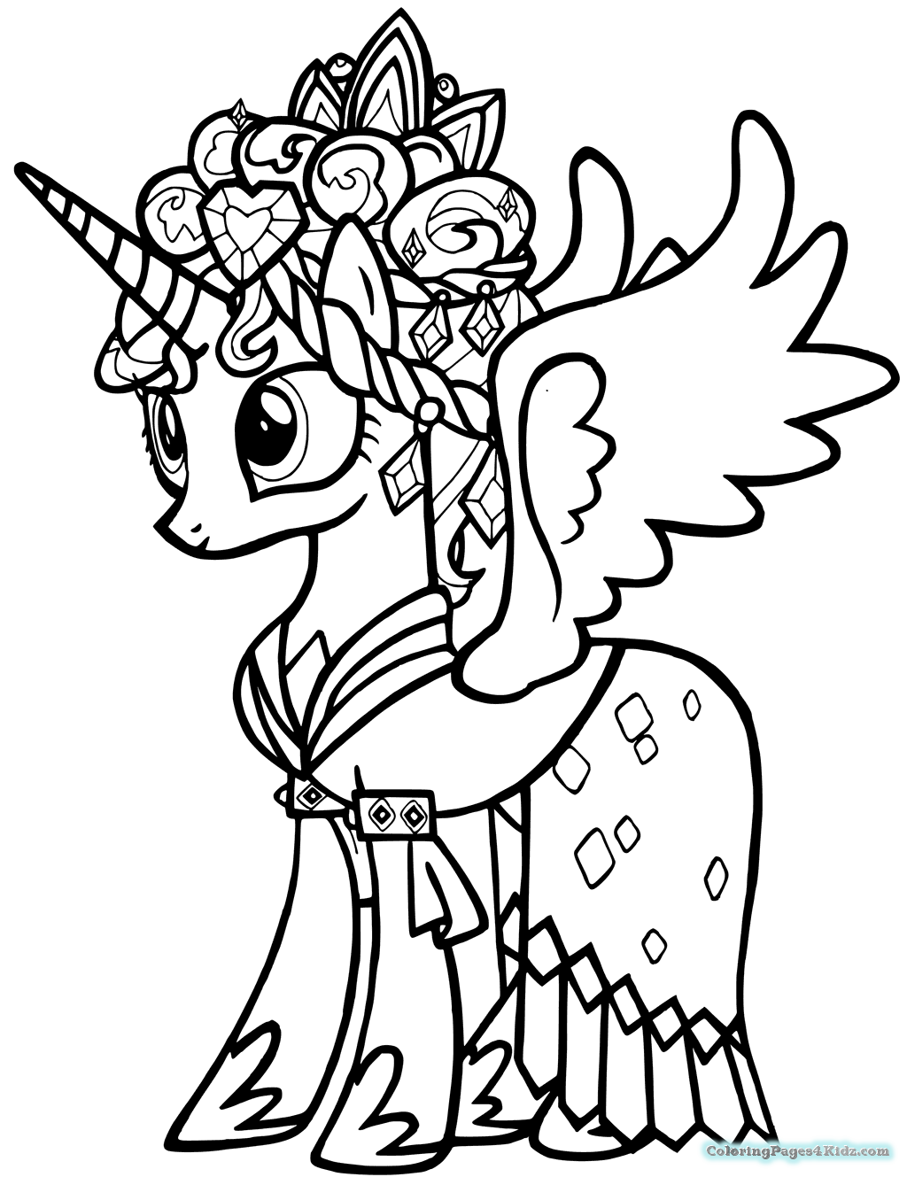 my little pony coloring pages princess cadence princess cadence my little pony coloring page coloring home little pony coloring my princess pages cadence
