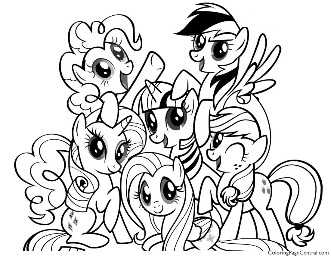 My little pony friendship is magic colouring pages