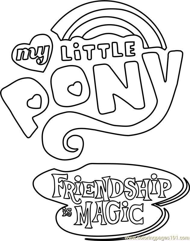 my little pony friendship is magic colouring pages my little pony friendship is magic logo coloring page pages is little friendship magic colouring pony my