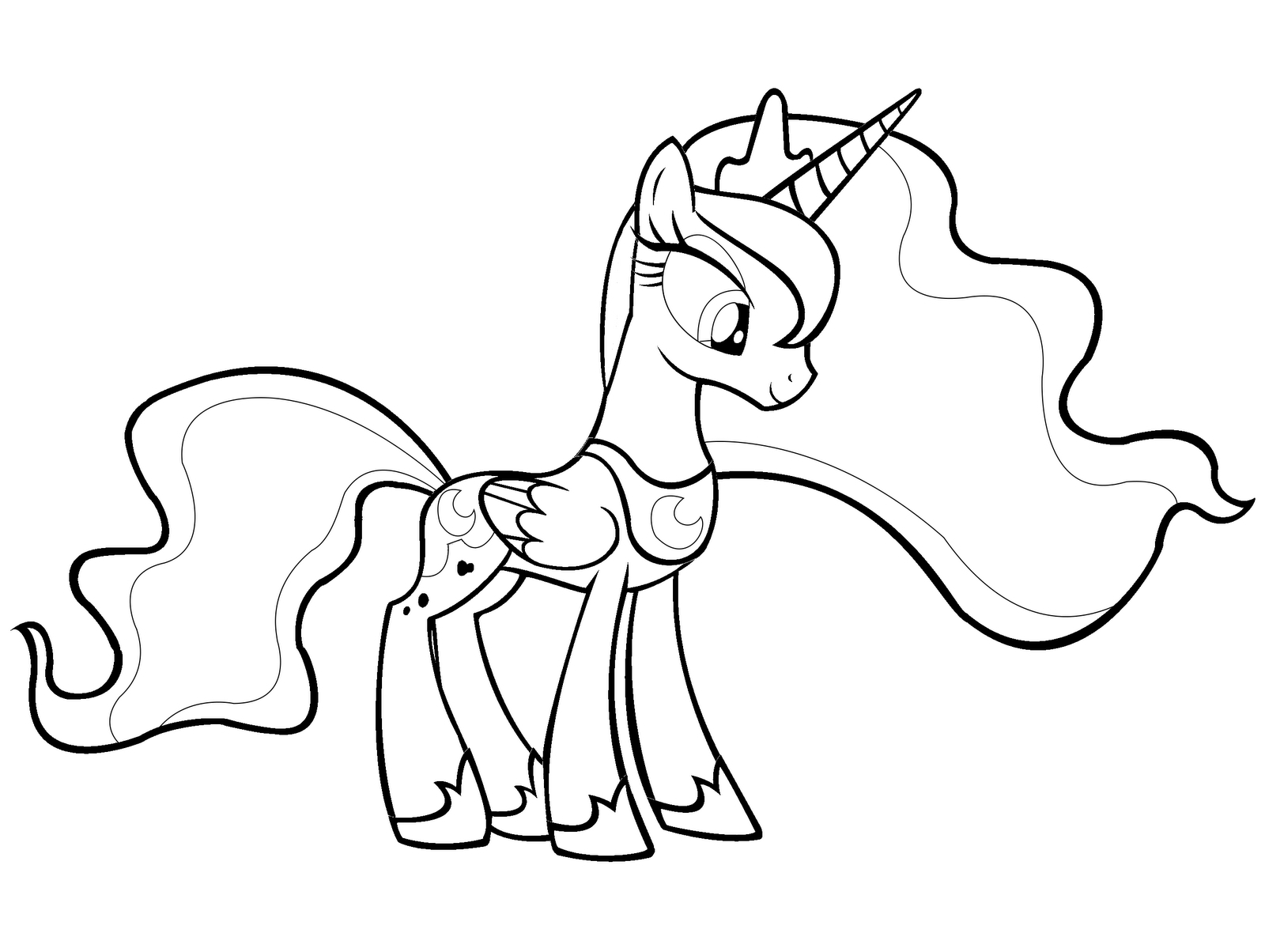 my little pony luna my little pony luna coloring pages at getdrawings free my pony little luna