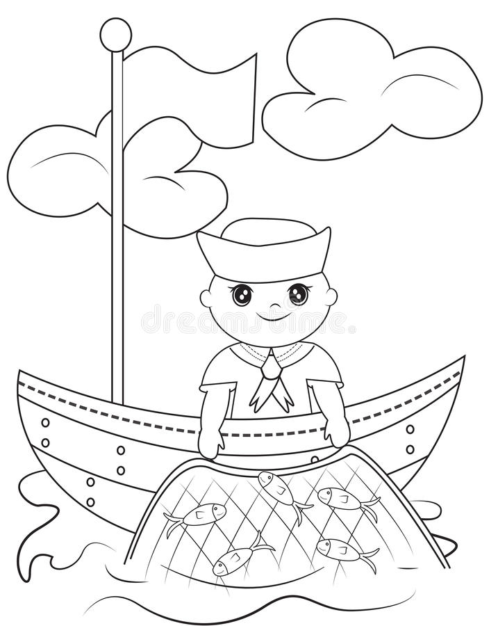 navy sailor coloring pages a little sailor on a boat easy coloring page for kids navy sailor pages coloring