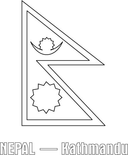 nepal flag outline nepal flag coloring page gallery flag outline nepal