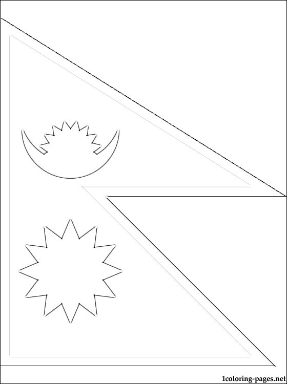 nepal flag outline nepal flag coloring page gallery nepal outline flag