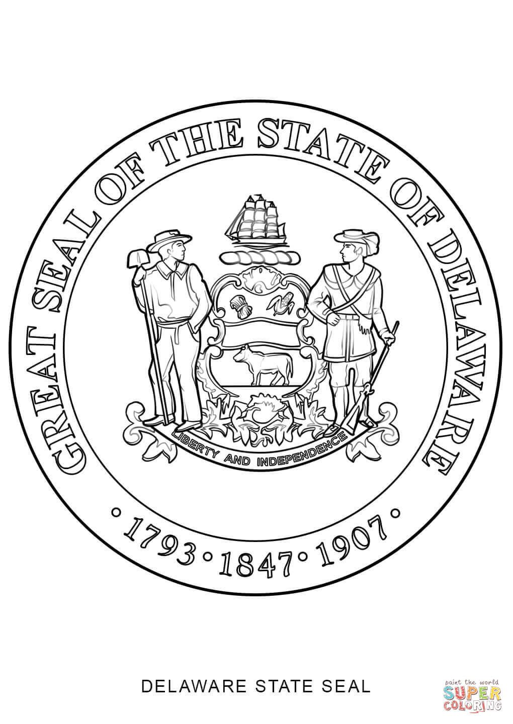 new jersey state seal coloring page click the delaware state seal coloring pages to view new page jersey coloring state seal