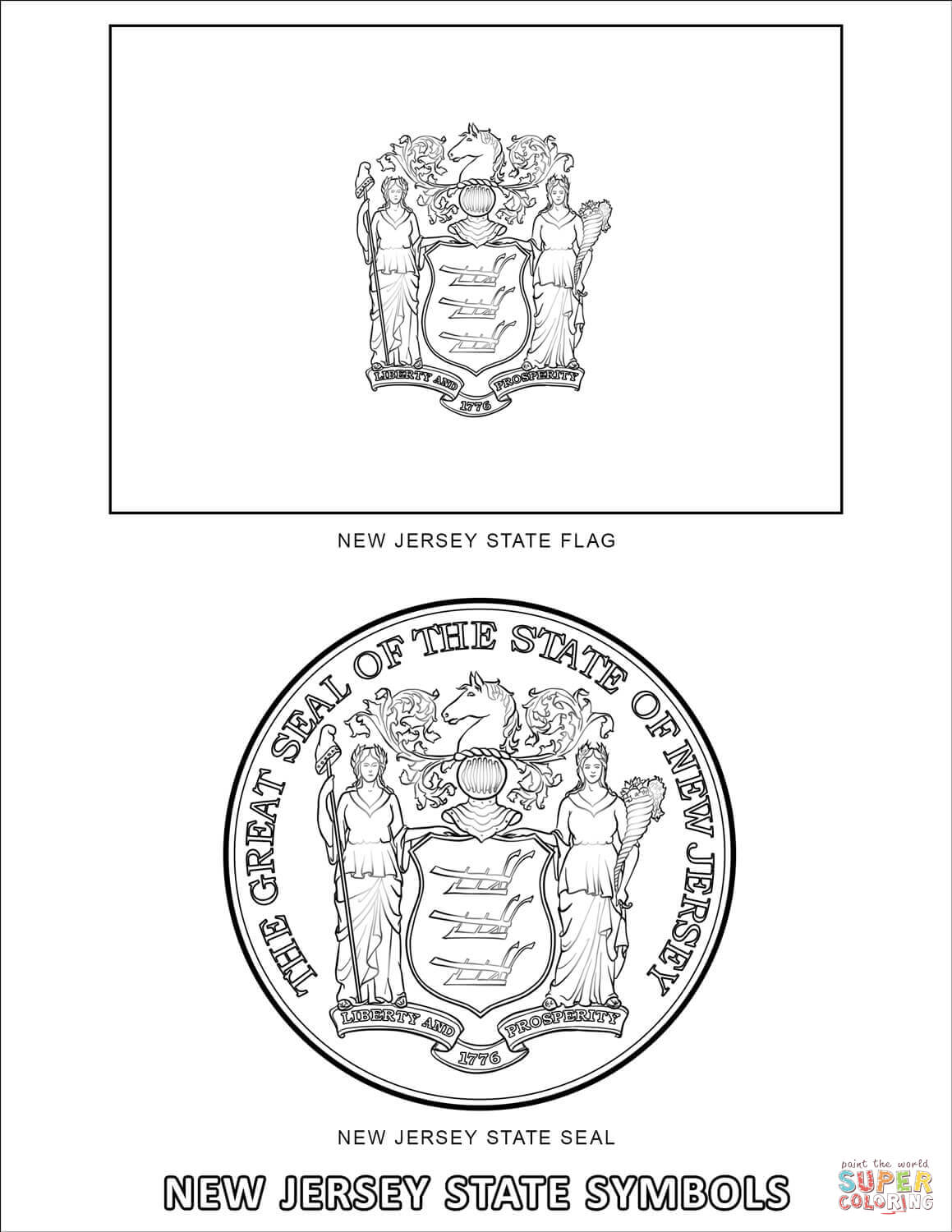 new jersey state seal coloring page new jersey drawing at getdrawings free download jersey page state seal new coloring