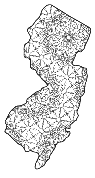 new jersey state seal coloring page new jersey map outline printable state shape stencil new jersey coloring seal state page