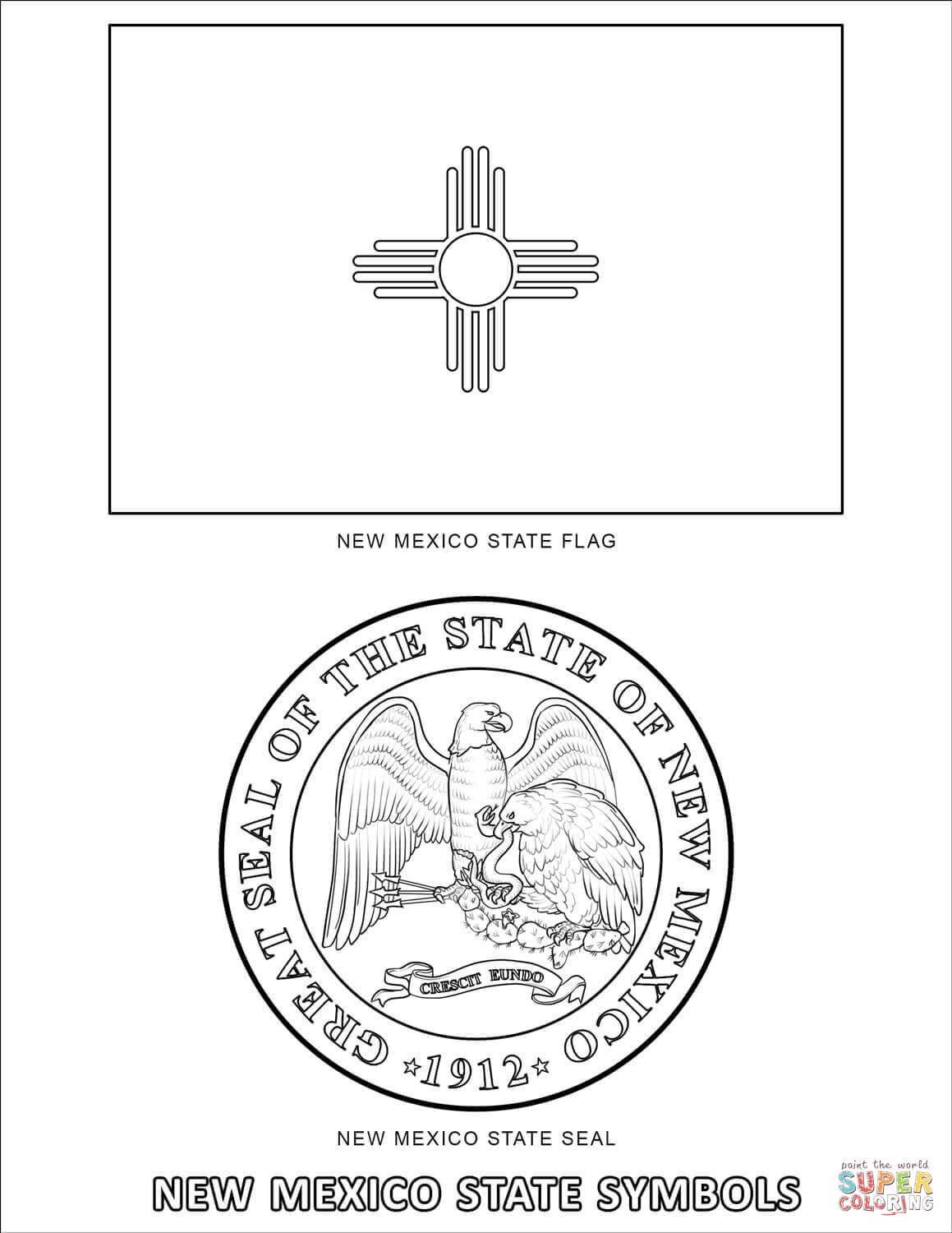 new jersey state seal coloring page new mexico state symbols coloring page free printable seal page new coloring state jersey
