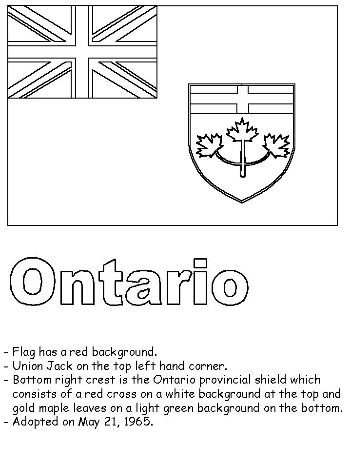 newfoundland flag coloring page ontario flag colouring page and some facts about its page flag newfoundland coloring