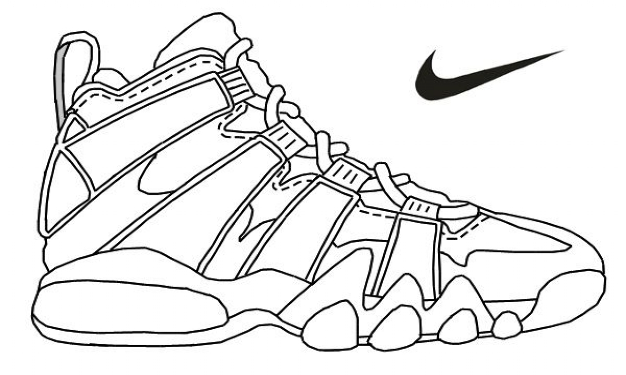 nike coloring pages lebron shoes drawing at paintingvalleycom explore pages coloring nike
