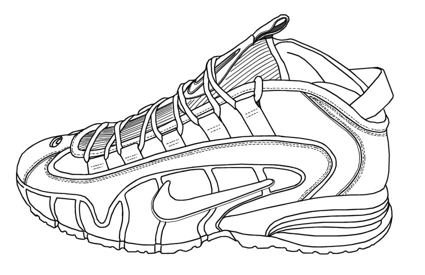 nike coloring pages nike air max 1 coloring page by justin w siddons on dribbble pages coloring nike