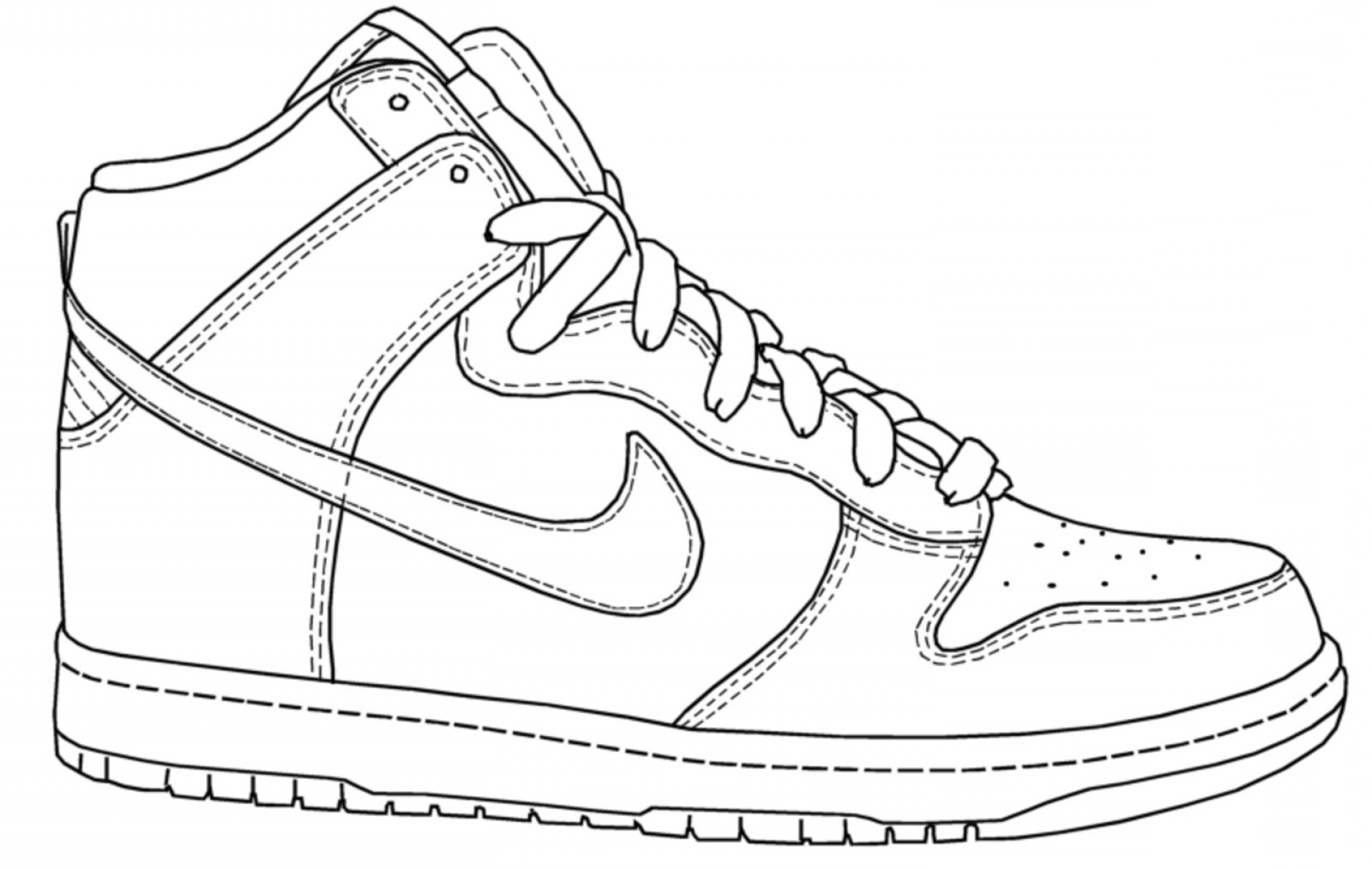 nike coloring pages nike shoe drawing at getdrawings free download coloring nike pages