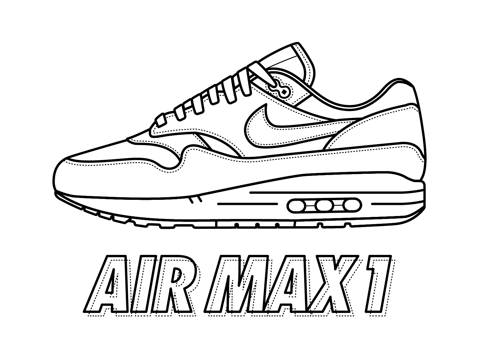 nike coloring pages nike shoe drawing at paintingvalleycom explore nike coloring pages