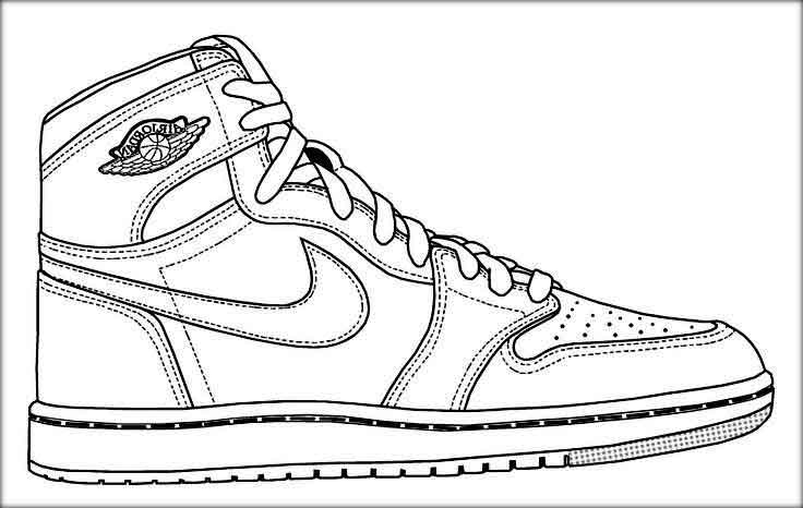 nike coloring pages printable nike coloring pages shoes to print free pictures pages nike coloring