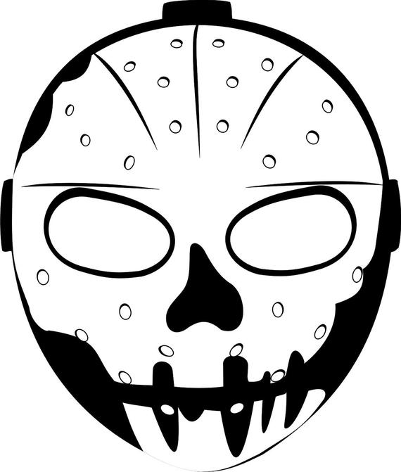Ninja mask coloring pages