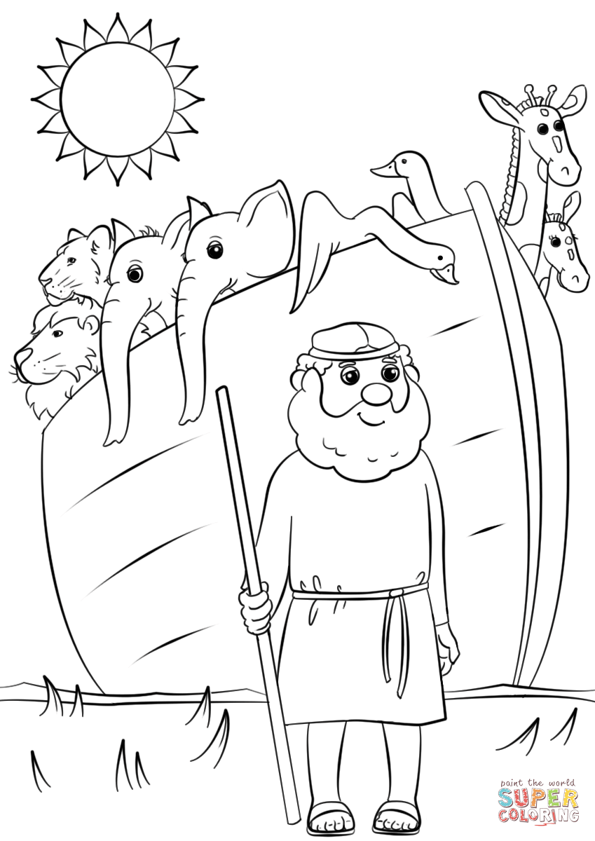 noahs ark pictures to colour noah ark drawing at getdrawings free download noahs ark colour to pictures