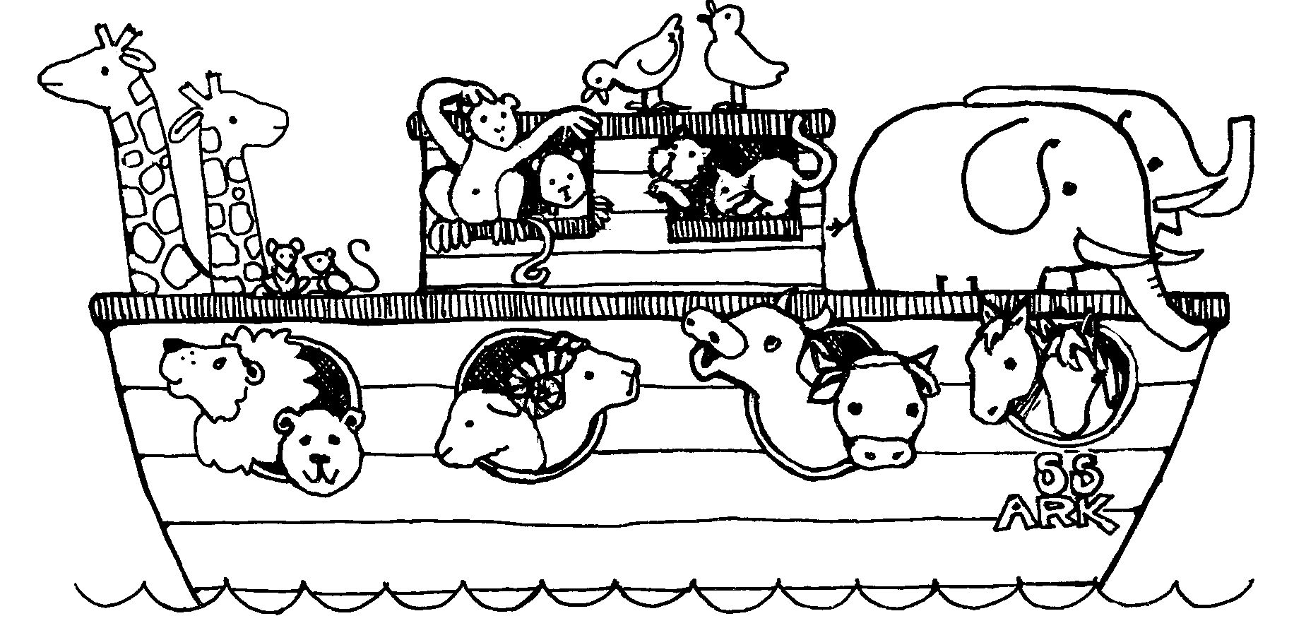 noahs ark pictures to colour noahs ark animal coloring pages at getcoloringscom free pictures ark colour noahs to