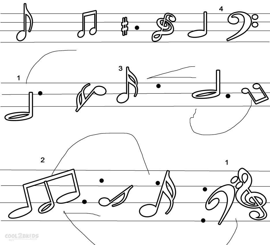 note coloring music note coloring pages to download and print for free coloring note