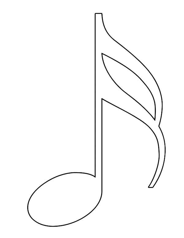 note coloring music note silhouette at getdrawings free download coloring note