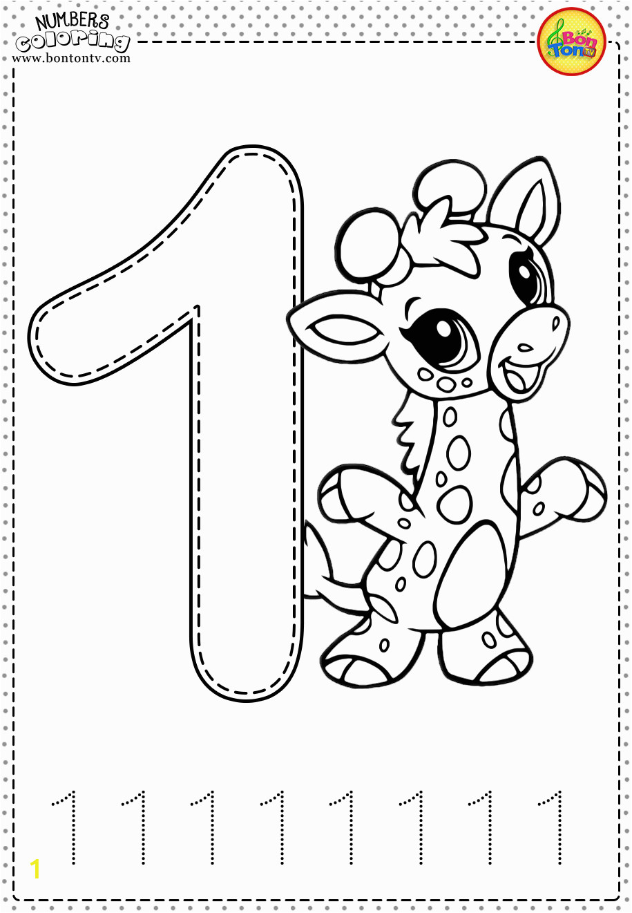 number 1 coloring page number 1 coloring page 1 number coloring page