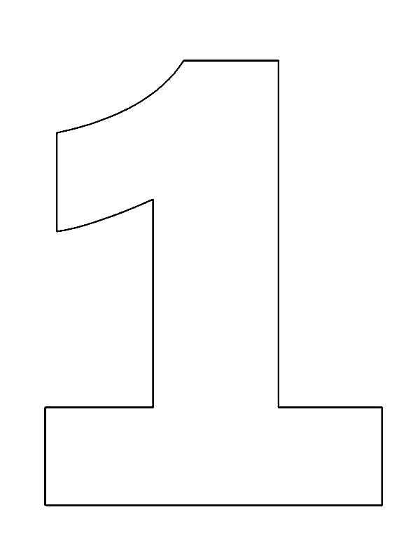 number 1 coloring page number coloring pages page coloring 1 number