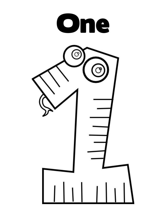 number 1 coloring page picture of number one coloring page netart number page 1 coloring