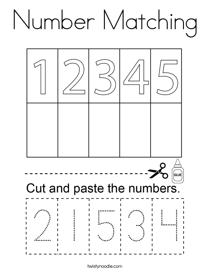 number matching coloring pages balloon number matching coloring page cursive twisty pages matching number coloring